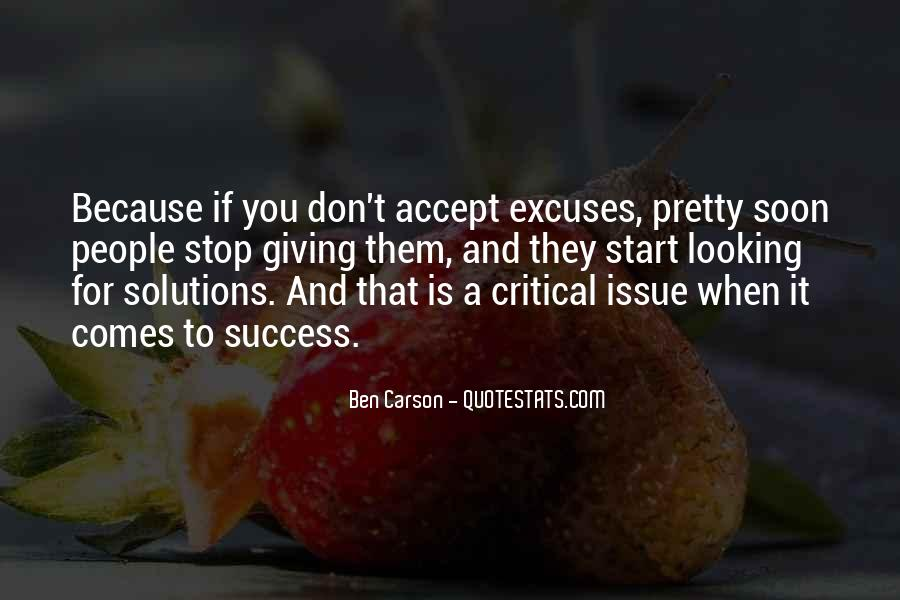 Quotes About Excuses And Success #782522