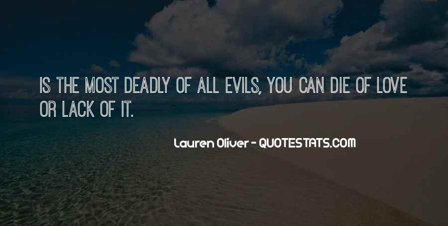 Quotes About The Evils Of Love #1873133
