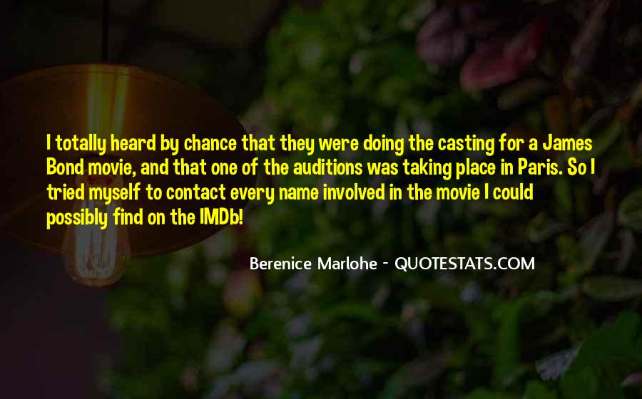 Quotes About Taking A Chance On Me #169911