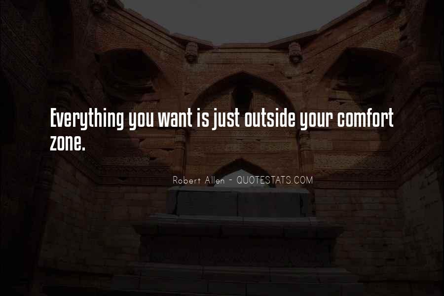 Quotes About Outside Your Comfort Zone #255401