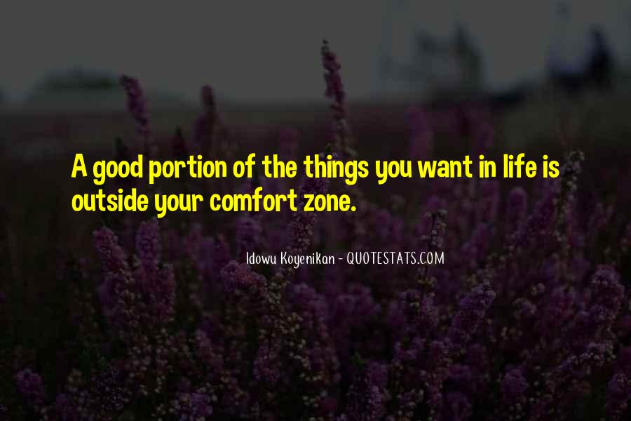 Quotes About Outside Your Comfort Zone #578458