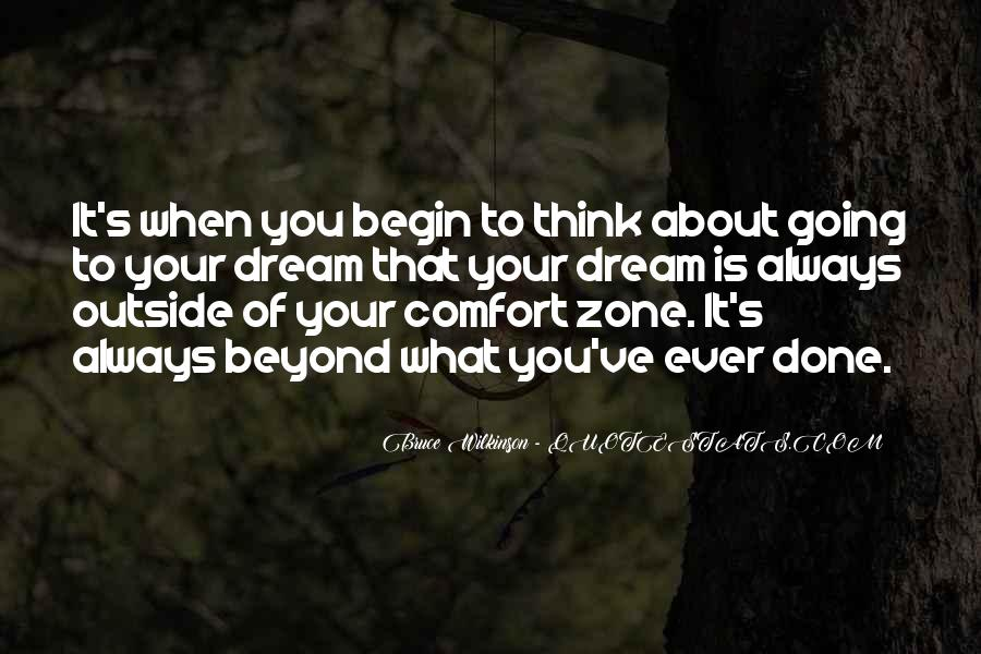 Quotes About Outside Your Comfort Zone #66195