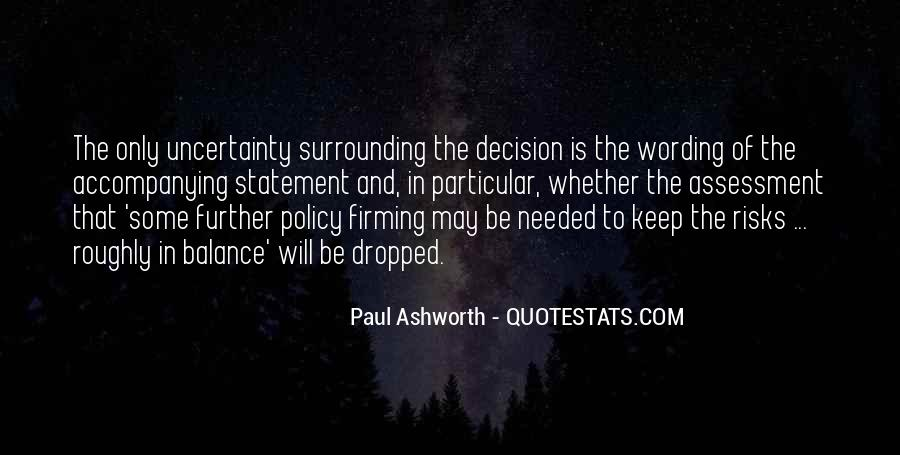 Quotes About Uncertainty #168685