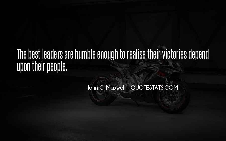 Quotes About Humble Leadership #1038736