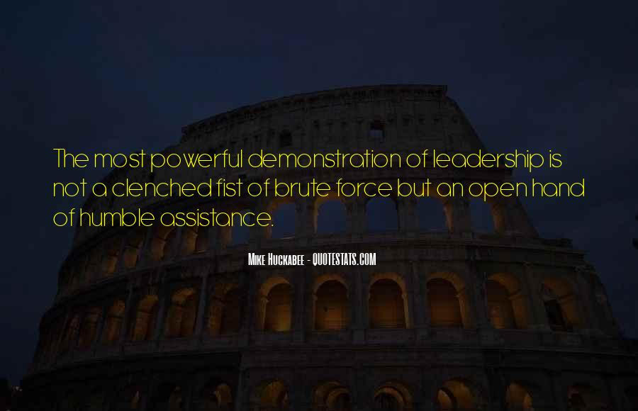 Quotes About Humble Leadership #406637