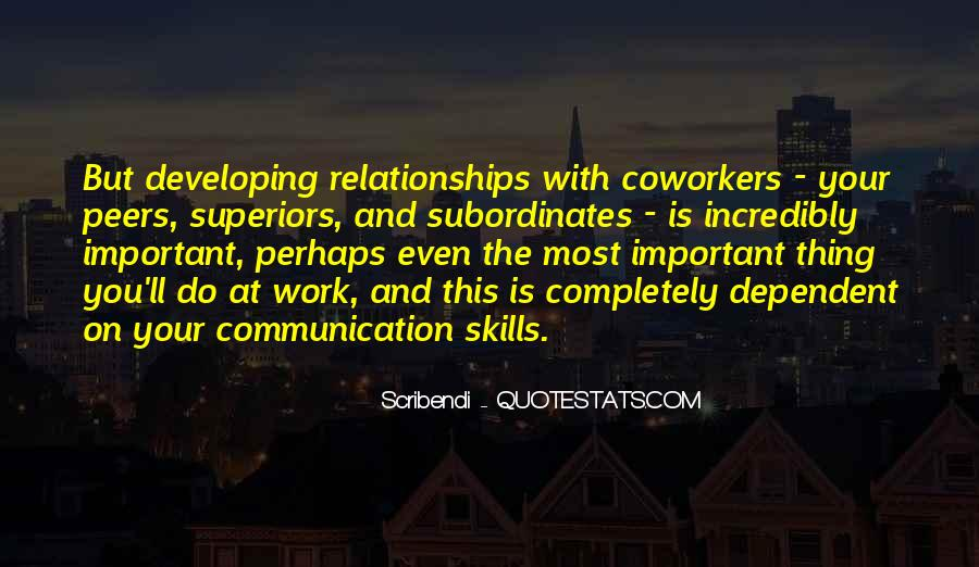 Quotes About Developing Business Relationships #1303289