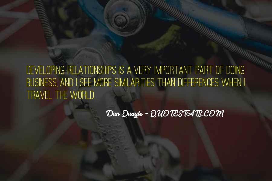 Quotes About Developing Business Relationships #1756147
