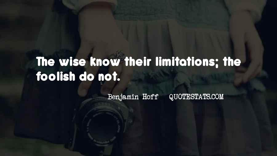 Quotes About Limitations #120690
