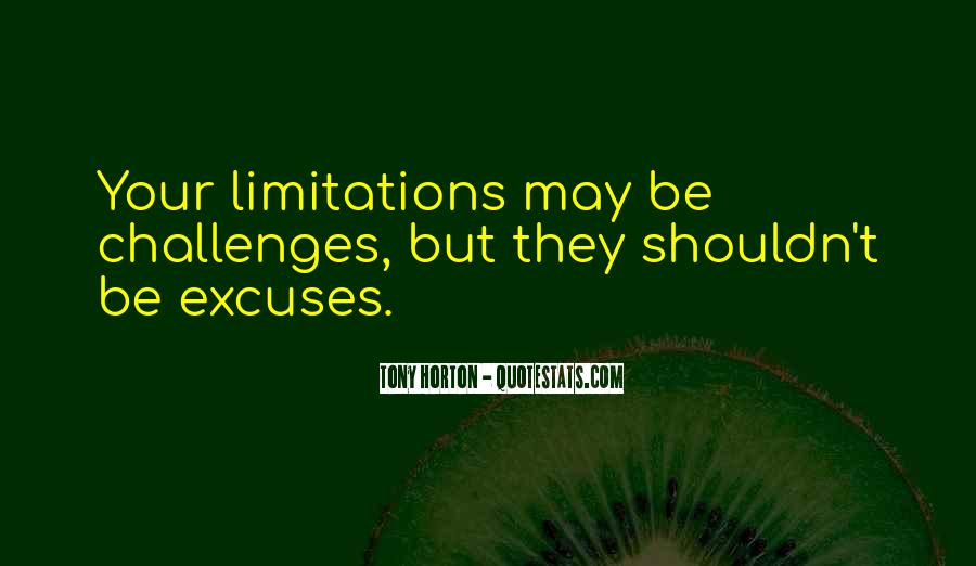 Quotes About Limitations #150647