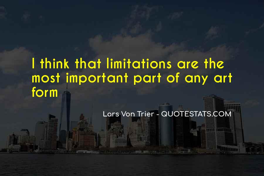 Quotes About Limitations #45291