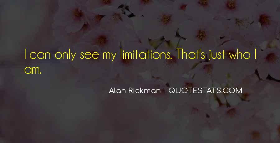 Quotes About Limitations #70263