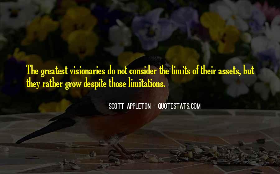 Quotes About Limitations #77645
