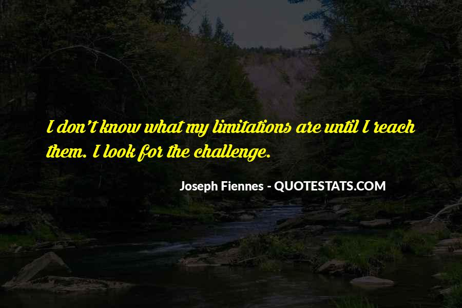 Quotes About Limitations #9709