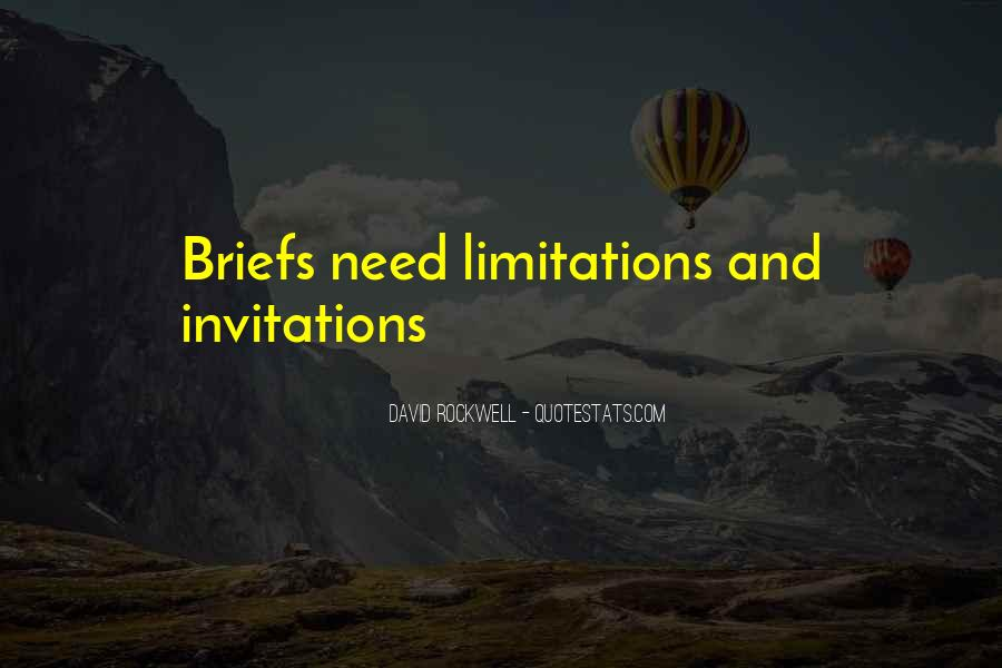 Quotes About Limitations #98659