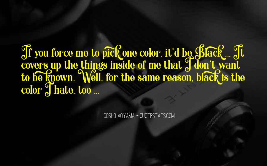 Quotes About Colour Black #932426