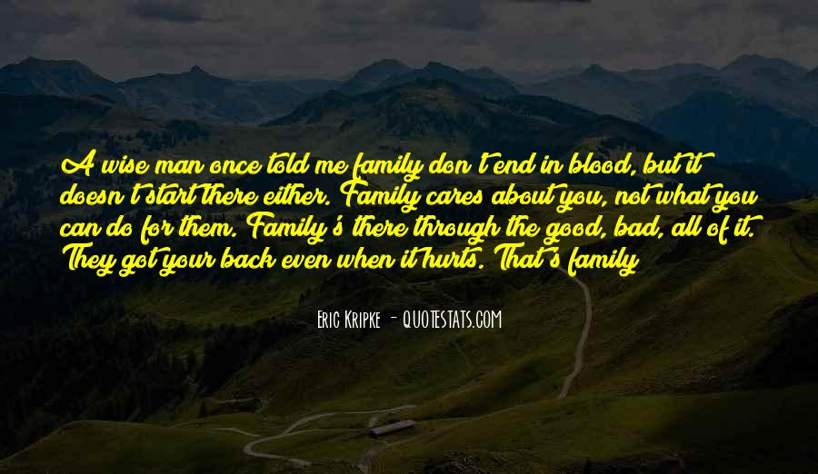 Quotes About Not Blood Family #373288