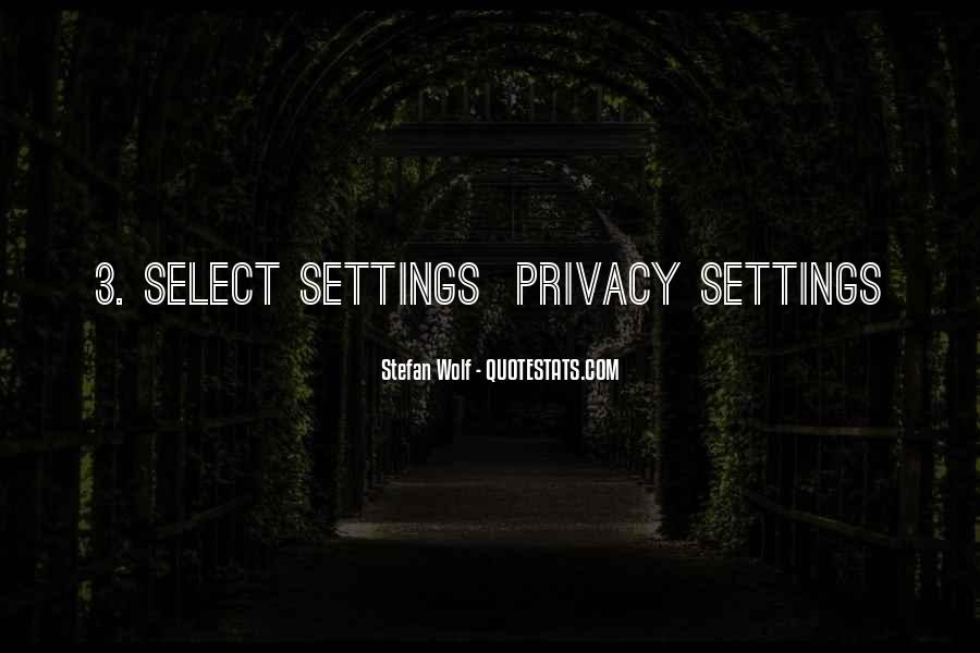 Quotes About Settings #2070