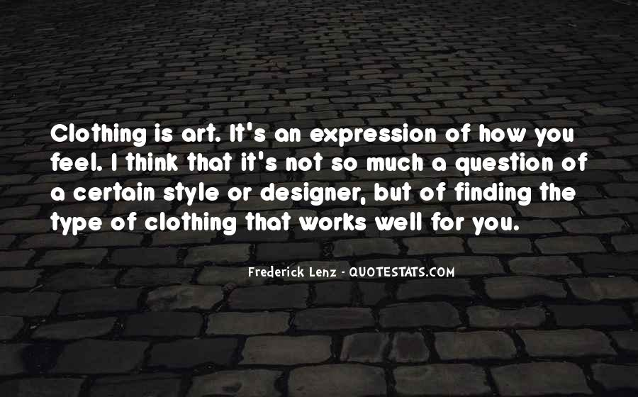 Quotes About Clothing Style #715886