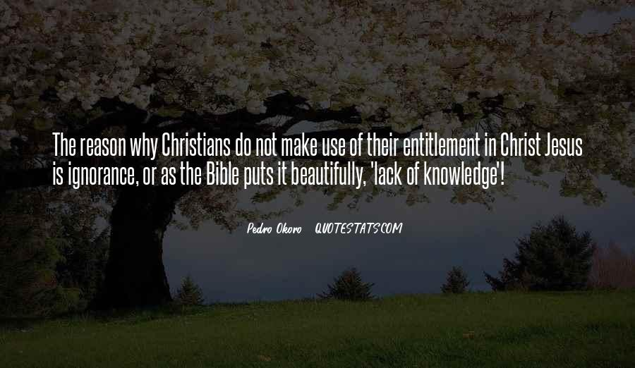 Quotes About Knowledge In The Bible #1750553