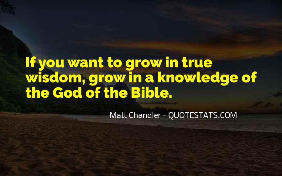 Quotes About Knowledge In The Bible #478546