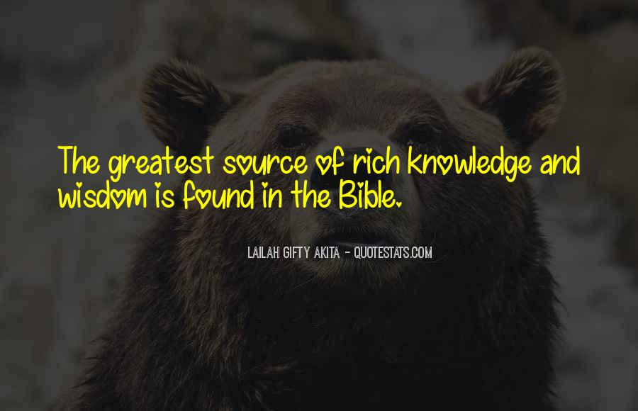 Quotes About Knowledge In The Bible #6202