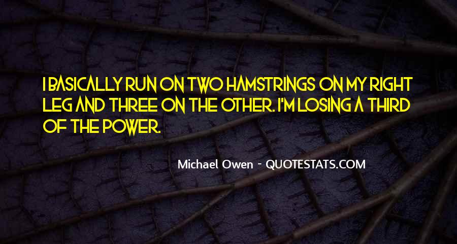 Quotes About Hamstrings #550074