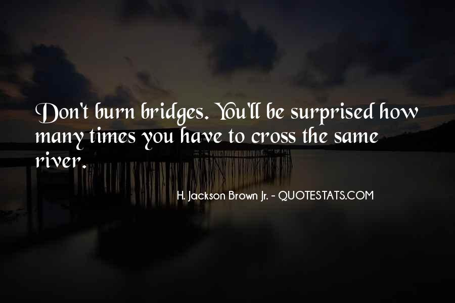 Quotes About Burning Your Bridges #1276795