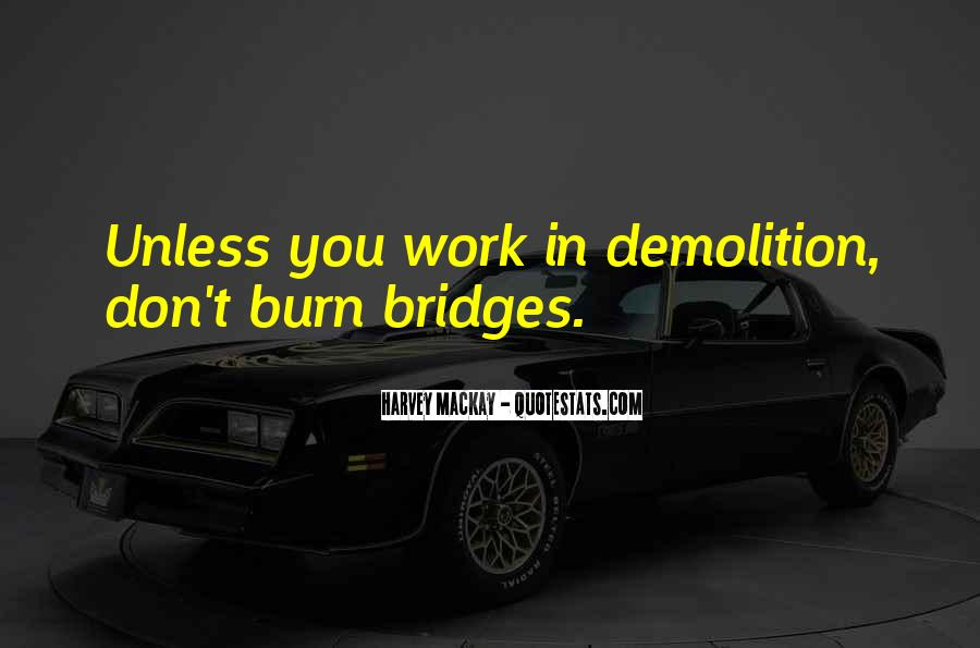 Quotes About Burning Your Bridges #1490842