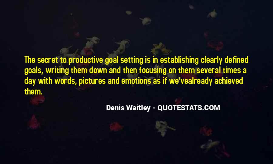 Quotes About Setting Goals In Life #170287