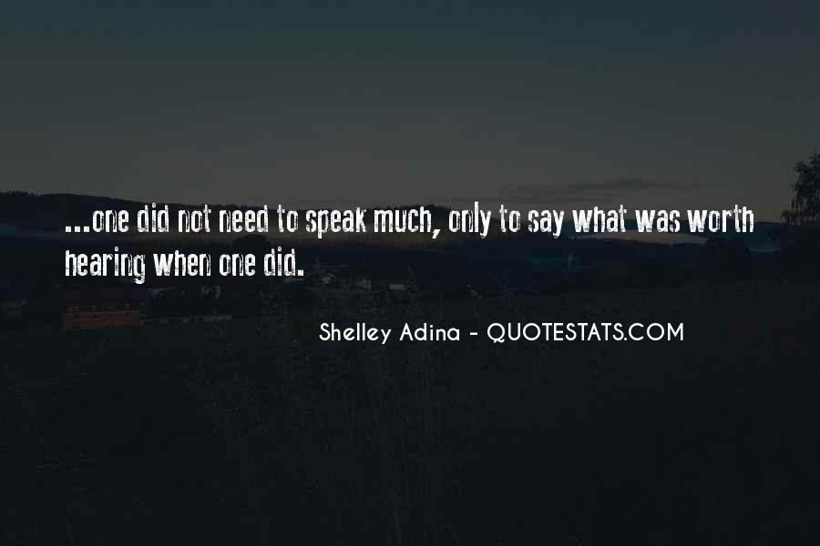 Quotes About When Not To Speak #113179