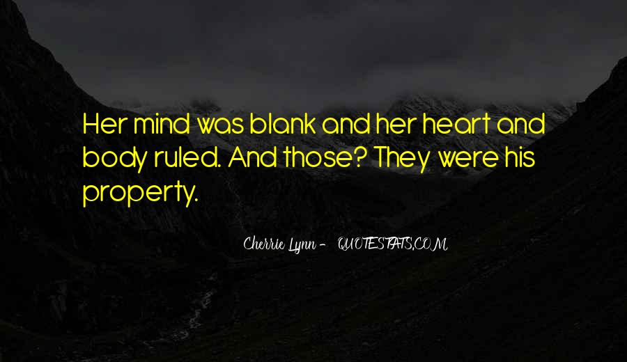 Quotes About Blank Mind #1000203