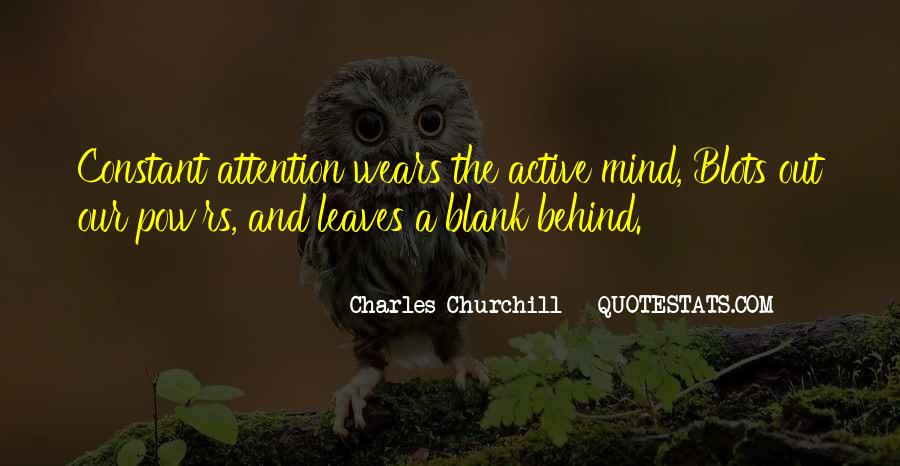 Quotes About Blank Mind #1324435
