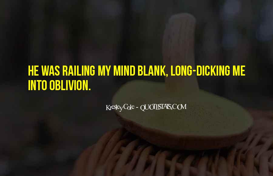 Quotes About Blank Mind #1775421