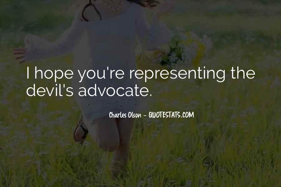 Quotes About Devil Advocate #1633416