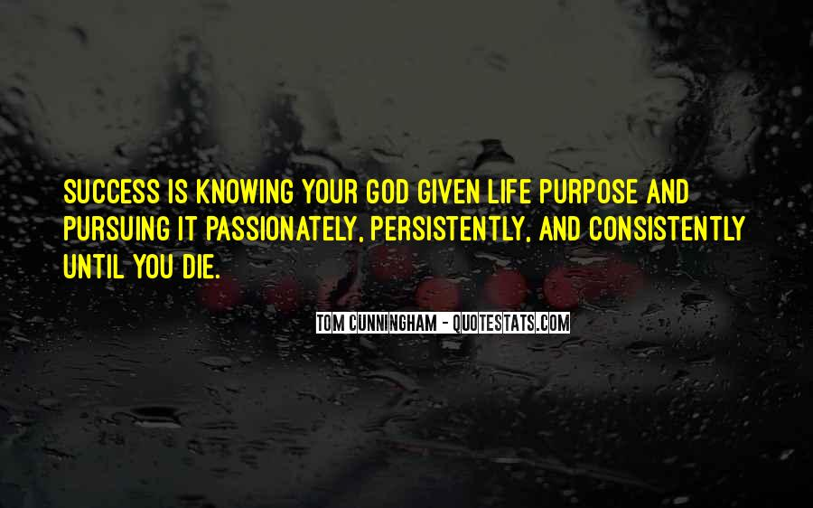Quotes About Purpose And Success #275608