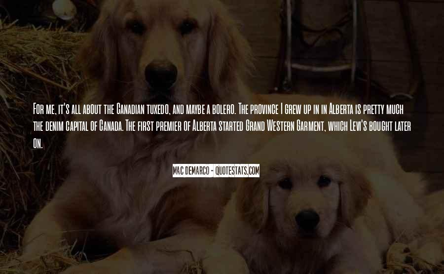 Quotes About Western Canada #381409