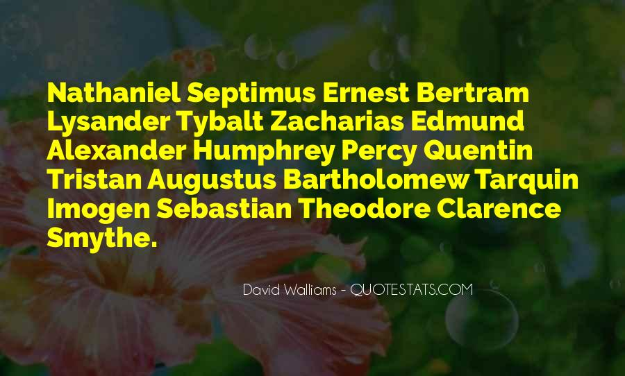 Quotes About Septimus #1043040