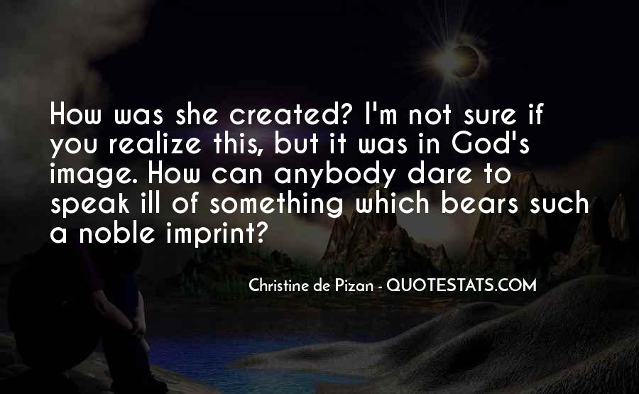 Quotes About God Created Woman #1008091