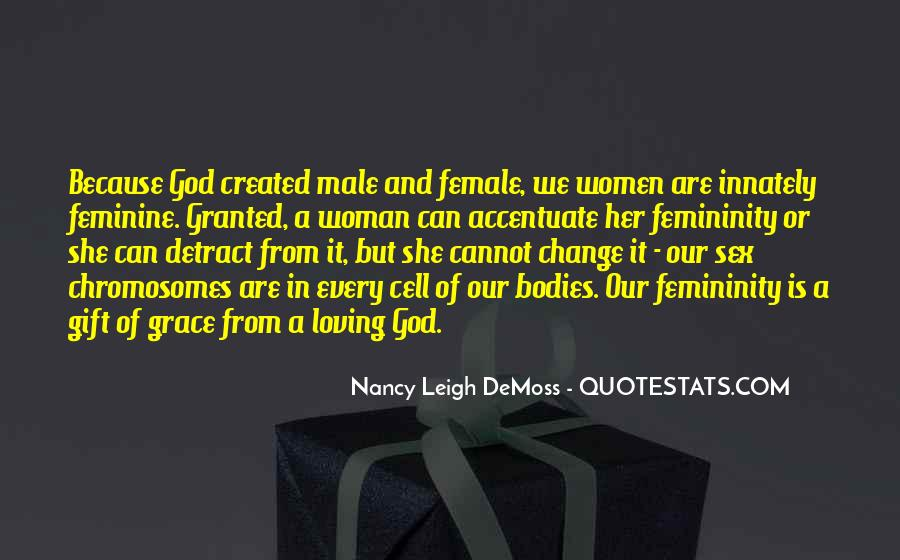 Quotes About God Created Woman #115662