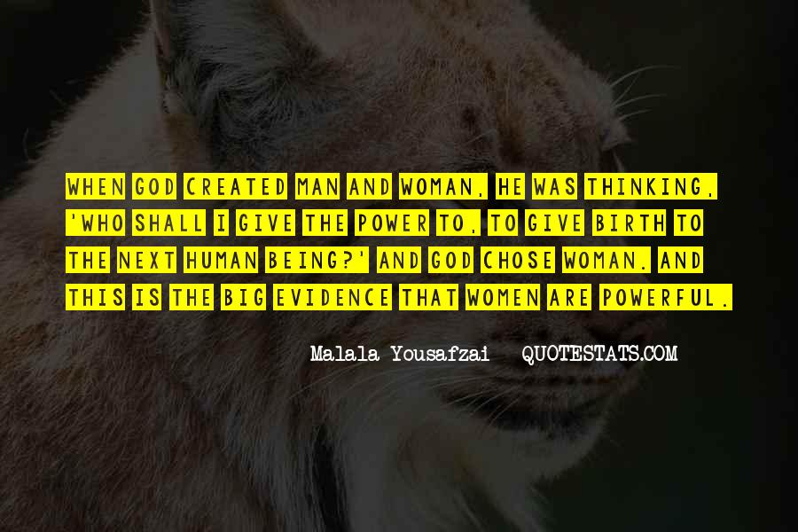 Quotes About God Created Woman #1301162