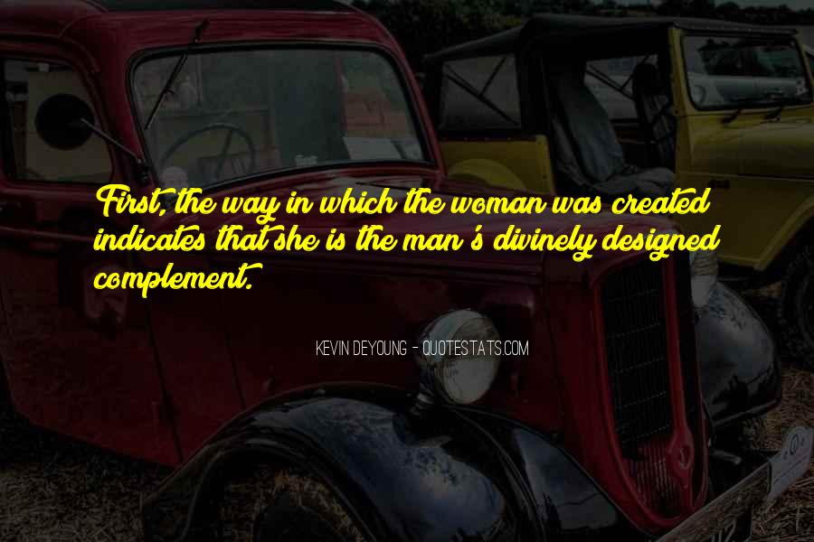 Quotes About God Created Woman #1455032