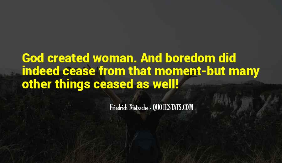 Quotes About God Created Woman #1787630