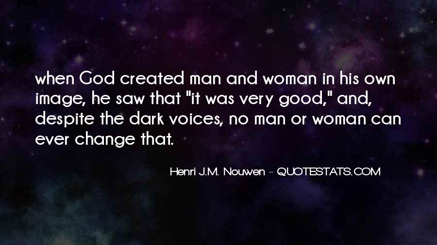 Quotes About God Created Woman #310319