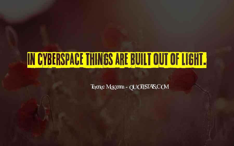 Quotes About Cyberspace #39556