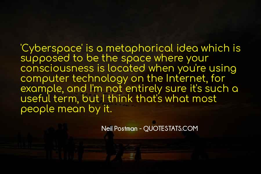 Quotes About Cyberspace #682684