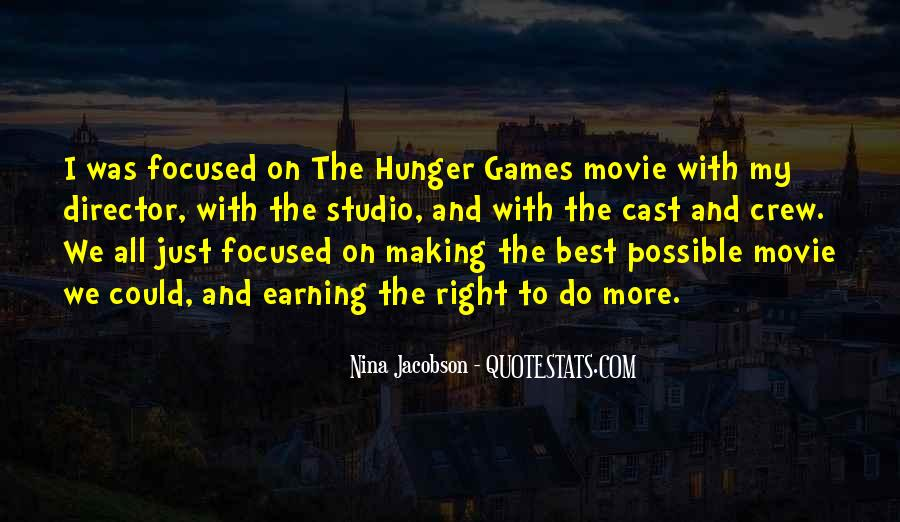 Quotes About The Hunger Games Movie #522821