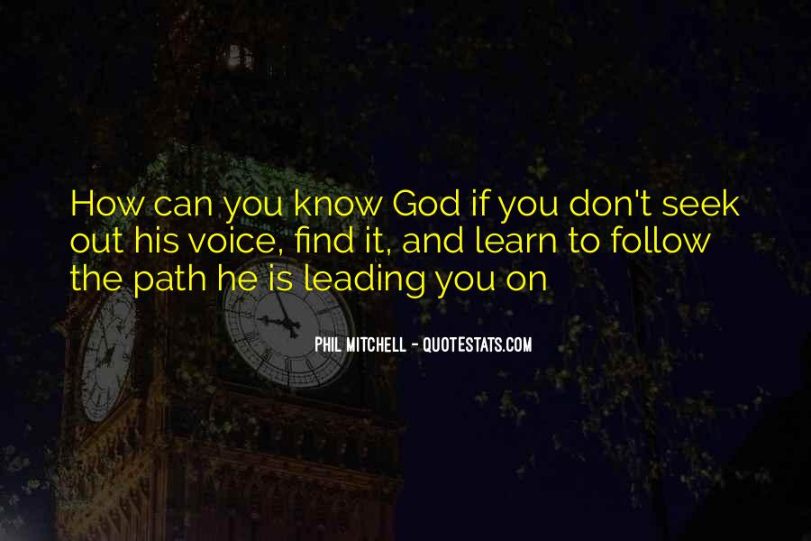 Quotes About God Leading You #761468