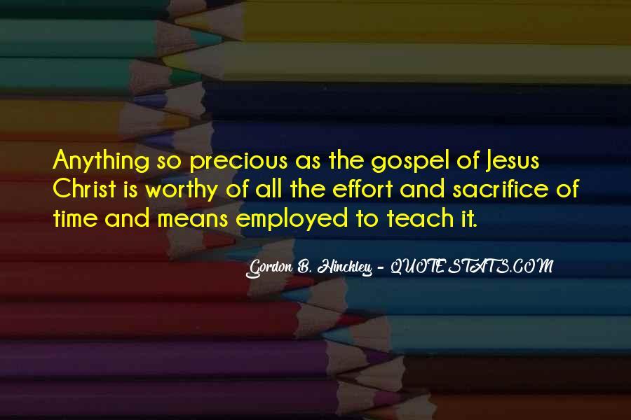 Quotes About Jesus Sacrifice #1441848