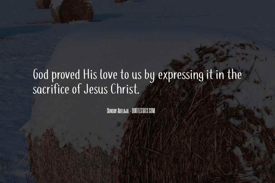 Quotes About Jesus Sacrifice #1491065