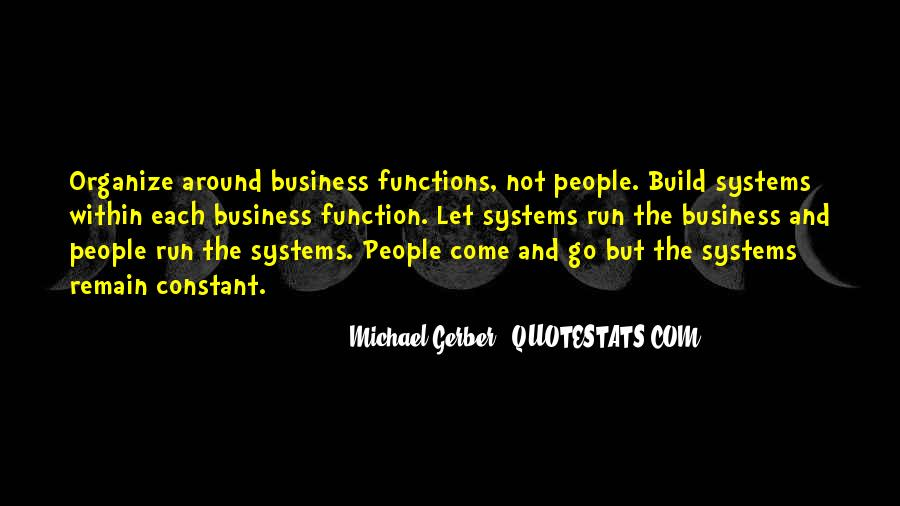 Quotes About Business Functions #1361836